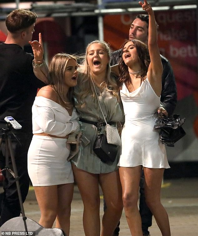 Case rates in young people are higher in the north-west of England. Pictured: Women enjoying a night out in Leeds on August bank holiday weekend
