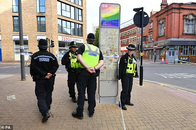 Officers have sealed off the junction between Hurst Street and Bromsgrove Street this morning. The area is near to where one of the incidents took place