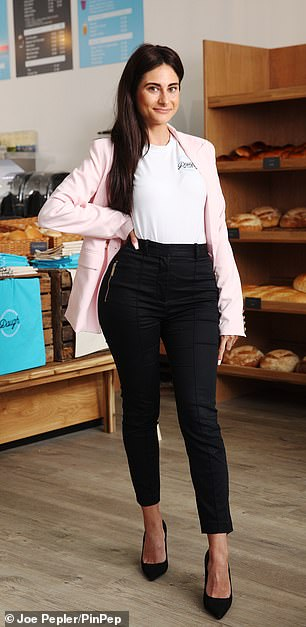 Ambitious: Carina has plans to open several branches of the business, with Lord Sugar saying Greggs should 'watch out'