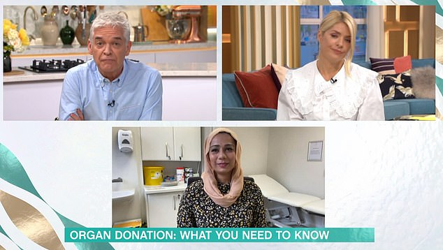 'I just couldn't imagine burying my child', the GP told presenters Holly Willoughby and Philip Schofield that she would be eternally grateful to the family who'd donated their child's liver to Qasim