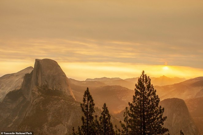 The Creek Fire cast an apocalyptic orange haze over Yosemite National Park, which is under threat of evacuation