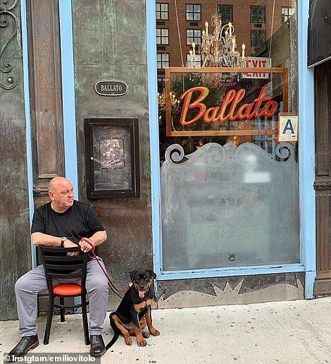 Vitolo's father, Emilio Vitolo, is known to sit in front of or outside his famous Nolita restaurant, which quietly determines who gets a seat and in what order
