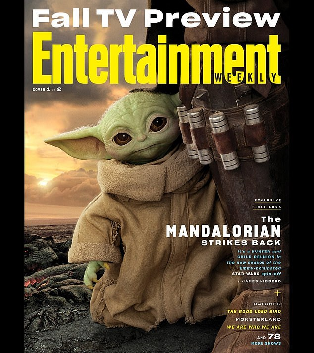 Aww!Baby Yoda has stolen the spotlight in two new Entertainment Weekly covers featuring the stars of The Mandalorian