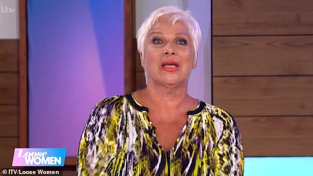 Emotional: Denise Welch, 62, was moved to tears during Tuesday's Loose Women as she revealed her youngest son Louis has left home