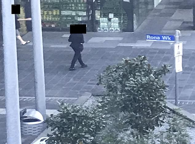 Stunning images have shown hotel quarantine guests who were ordered to isolate inside their rooms walking to a nearby convenience store