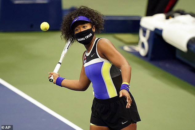Naomi said: 'I'm aware that tennis is watched all over the world, and maybe there is someone that doesn't know Breonna Taylor's story'