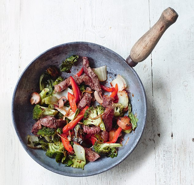 Any leftovers from this juicy beef stir-fry can be stored in an air-tight container and refrigerated when cool