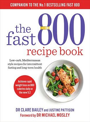 The Fast 800 Recipe Book: Low-carb, Mediterranean style recipes for intermittent fasting and long-term health by Dr Clare Bailey and Justine Pattison, foreword by Dr Michael Mosley (Short Books, £16.99).
