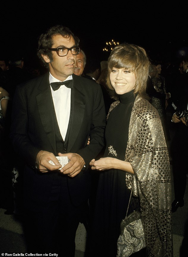 Number one: The Grace And Frankie actress with French screenwriter Roger Vadim (pictured); they were wed from 1965 to 1973; Jane and Roger seen at the 1970 Oscars