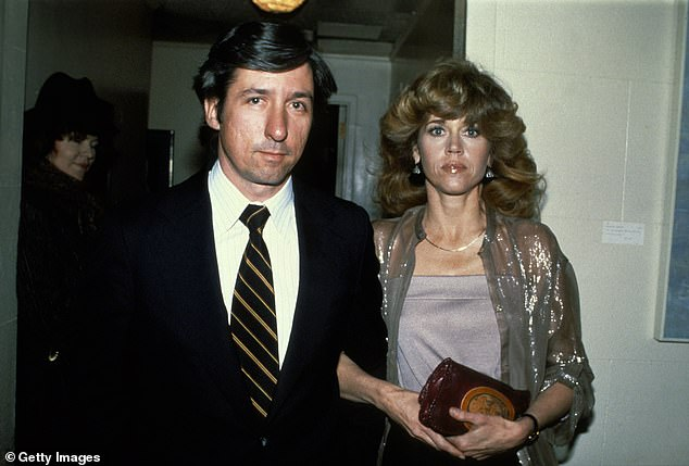Number two: The star was married to left-wing activist/politician Tom Hayden from 1973 to 1990; seen in 1979