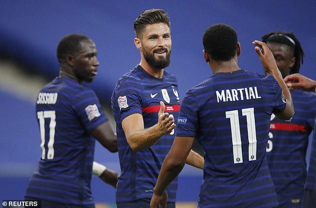 Olivier Giroud scored his 40th international goal as France earned a 4-2 win over Croatia