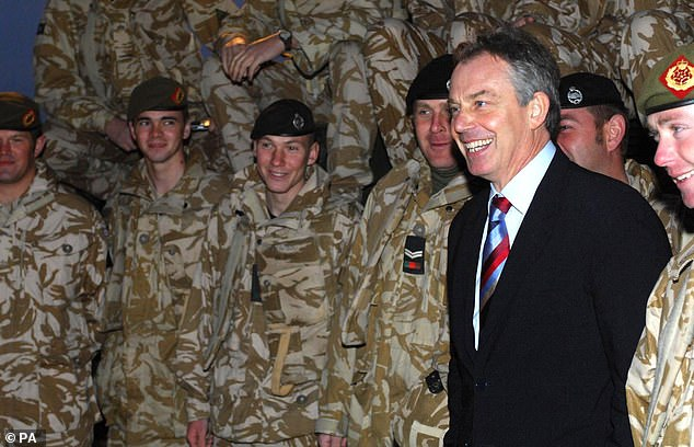 The last Prime Minister to provoke the resignation of a Whitehall legal mandarin by flouting international law is still haunted by the consequences. Pictured: Tony Blair