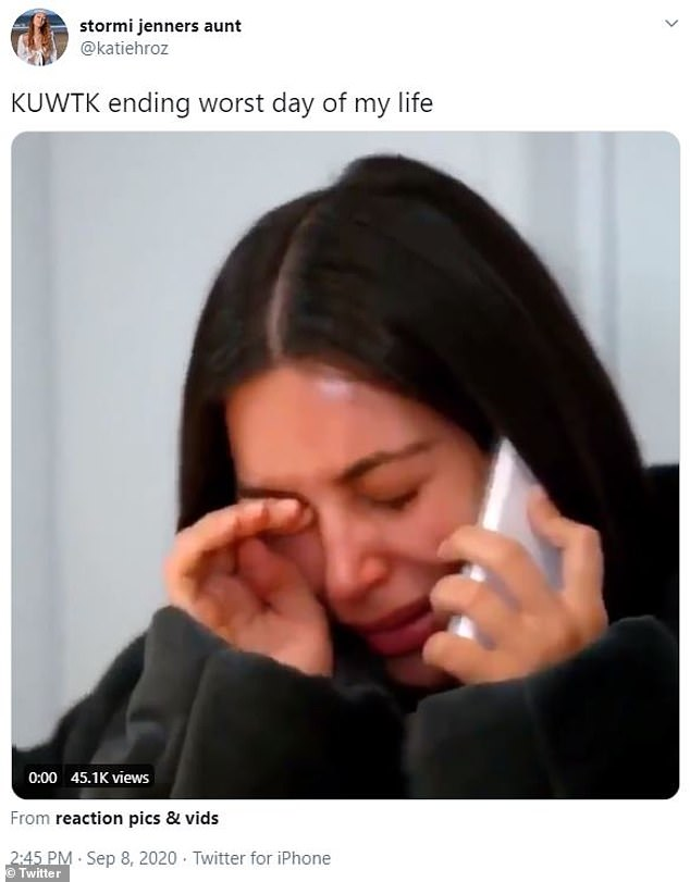 Bummer: One Twitter user joked this was the 'worst day of my life' with a still of Kim Kardashian's now-iconic crying face