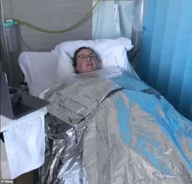 Ms Johnson suffered a severe allergic reaction to the cream and wound up in hospital for six days (pictured)