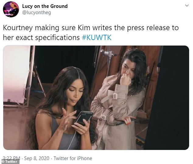 Leading the way:Kim's older sister Kourtney Kardashian, 41, featured in some humorous posts that referenced her choice to leave the series before the upcoming season