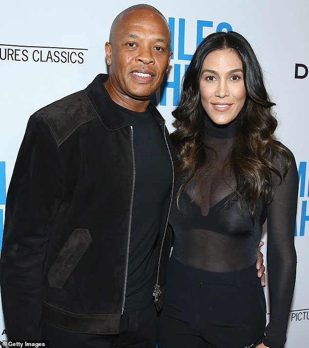 Divorce depositions:Dr Dre's estranged wife Nicole Young, shown in March 2016 in Beverly Hills, California with the music mogul, has filed court documents seeking in-person depositions for their divorce case amid the ongoing coronavirus pandemic