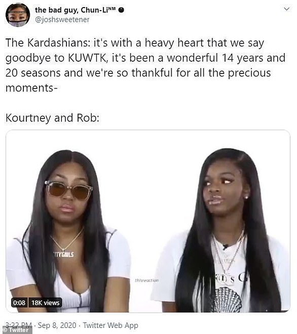 Doesn't mind: Rob, who hasn't been featured much in recent seasons, was part of a joking video about how he wouldn't care about the show's end