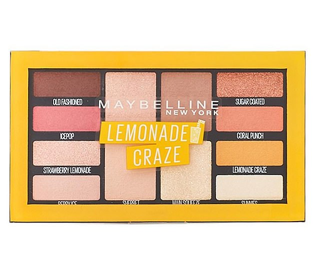 The $28.95 Maybelline Lemonade Craze Eyeshadow Palette is just $3 for three weeks (pictured)