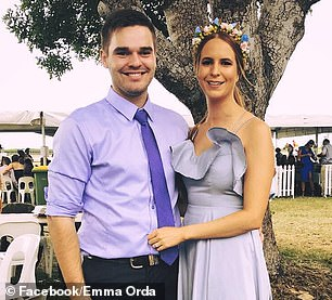 Lukas Orda, 25, from the Gold Coast (pictured), was identified as one of two Australian on board the ship