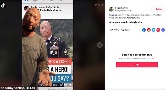 Henline TikTok Exposing 'Propaganda', Saying 'Stop Using My Image'