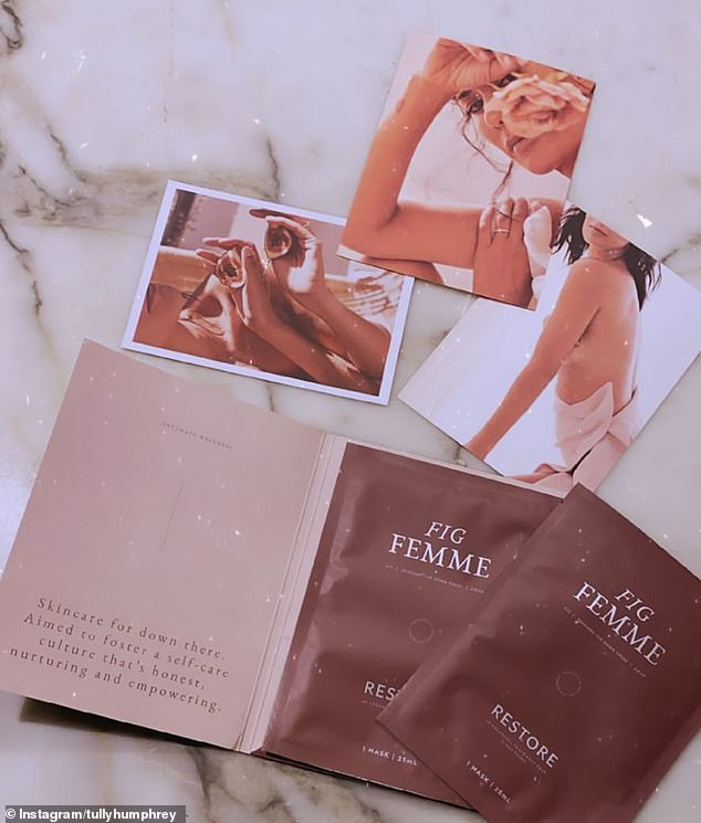 Unique: Each single-use mask costs $25, and is imbued with a variety of 'natural' ingredients, including a probiotic called Lactobacillus ferment to 'reduce odour, irritation and itching'.