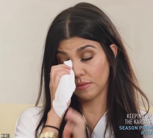 Hard end: Nine years after starting their relationship in 2006, and after welcoming three children together (Mason, 10, Penelope, eight, and Reign, five) Kourtney made the difficult decision to end her relationship with Scott