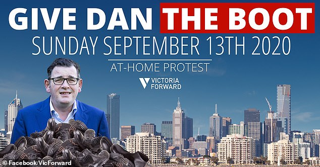 More than 3,000 Melburnians have said they would take part at the at-home protest on Sunday