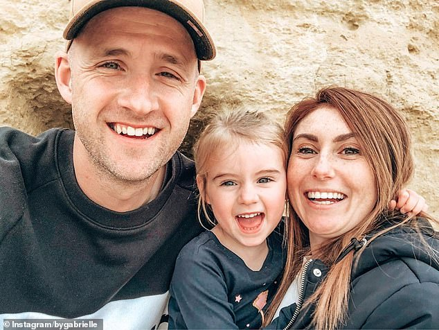 Family: Jarrod paid tribute to his wife, Gabrielle (right), and their daughter, Rayne (centre), and then thanked his listeners for 'riding this journey with me'