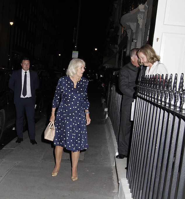 The Duchess of Cornwall put on an effortlessly stylish display as she enjoyed a night on the town