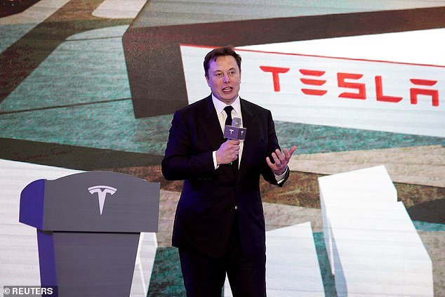 Tesla Inc CEO Elon Musk speaks at an opening ceremony for Tesla China-made Model Y program in Shanghai, China in January, 2020