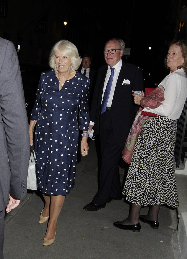 The luxurious private members' club is thought to be the best for wine connoisseurs, Pictured, a smiling Camilla with friends