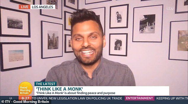Appearing on Good Morning Britain today, he revealed how to improve your mood amid the coronavirus pandemic, advising 'finding a daily habit' which brings you peace