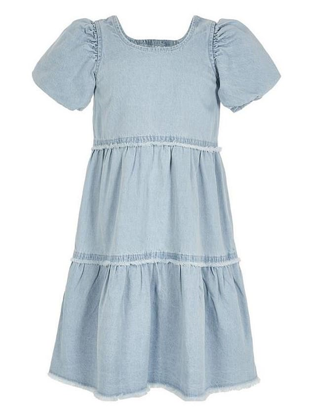 River Island Girls Denim Smock Dress (£20) at Very
