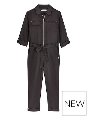 Mintie by Mint Velvet Girls Zip Denim Jumpsuit (£45) at Very