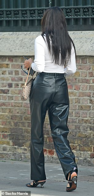 Make Way: She is one of Australia's better-known fashion exports, but Shanina Sheikh was turning heads in London while going out for a shopping trip on Wednesday.