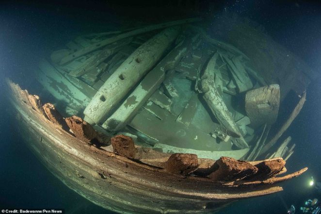What led to the demise of this specific ship remains a mystery, as it has been found by divers in near-perfect condition with no sign of what caused it to sink