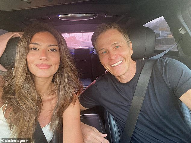 Together again!In an Instagram photo last Wednesday (pictured), Pia was glowing as she sat next to Patrick in a car, after having spent months apart on opposite sides of the globe