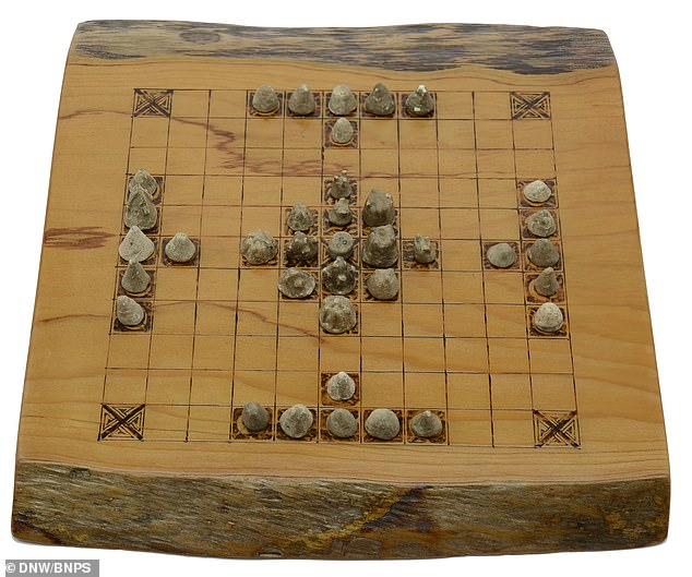 The early board game entitled 'Hnefatafl' has similarities with chess and was popular with the soldiers in teaching strategy on the battlefield. The complete set of original Viking pieces come with a custom-made playing board