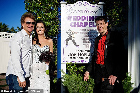 Jon surprised the bride on her wedding day having married wife Dorothea Hurley in 1989 at the venue