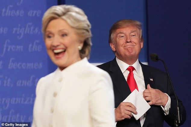 The most memorable debate moment from 2016 didn't involve words but was when President Trump lingered behind Hillary Clinton as she answered questions in their second debate