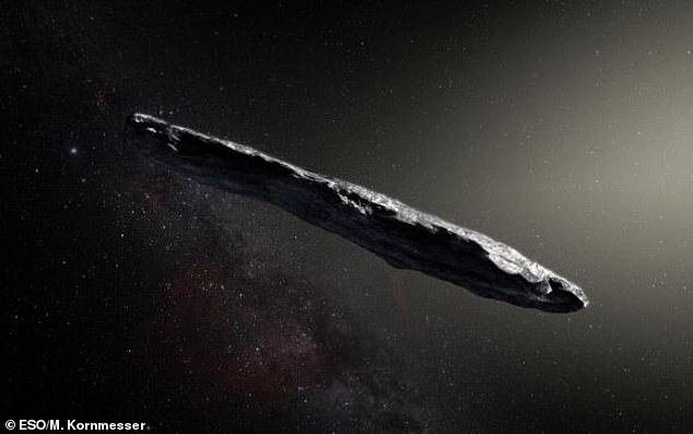 The interstellar visitor Oumuamua has baffled scientists for nearly three years, but one group of researchers suggest it is just a cosmic 'dust bunny.' A team from the University of Olso in Norway believes the object developed from particles and gases surrounding the nucleus of an Oort cloud comet