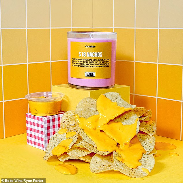 Yum! There's an $18 Nachos candle, which smells just like the real deal but is, sadly, not edible