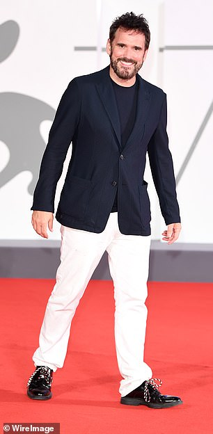 Red carpet look: Matt rubbed well for the glitzy event