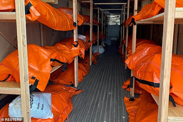 Don't panic: This was the scene inside a makeshift morgue outside Wyckoff Hospital a in the Brooklyn borough of New York on April 4, 2020.