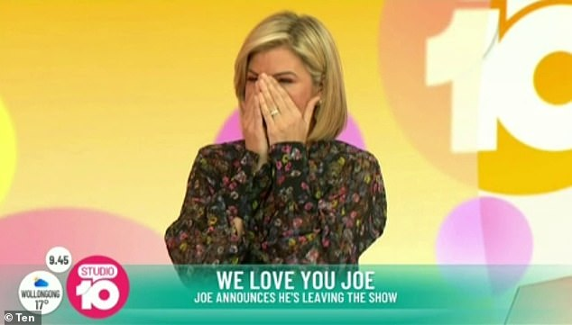 Emotional: Harris also broke down into tears upon hearing Joe's kinds words about her
