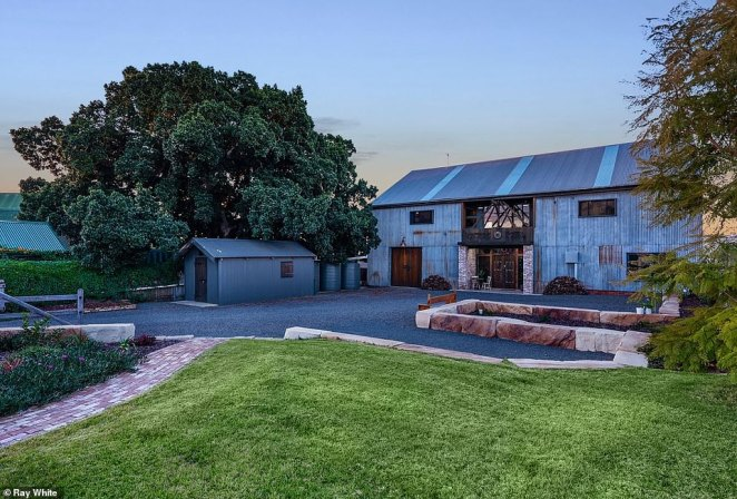 'Vintage Steel', a sprawling six-bedroom family home in regional New South Wales that started life as a farmyard hay shed