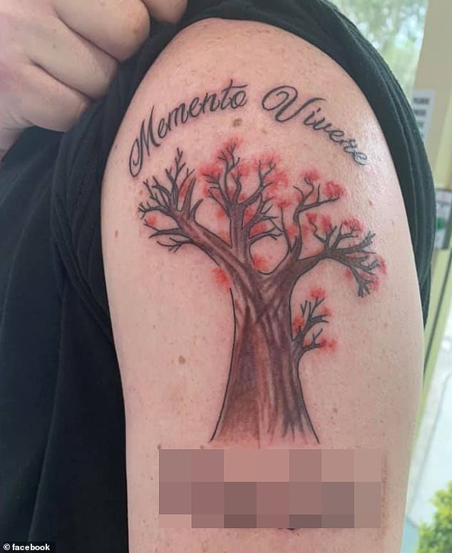 The girl's father said the drawing of a cherry blossom tree was a metaphor for her life as they 'do not live for very long' but are a symbol of 'strong luck and good fortune'