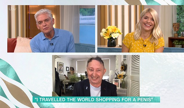 He told hosts Holly Willoughby and Philip Schofield (both pictured) that his doctor had 'no care or compassion' while giving him the news his penis would have to be 'chopped off'