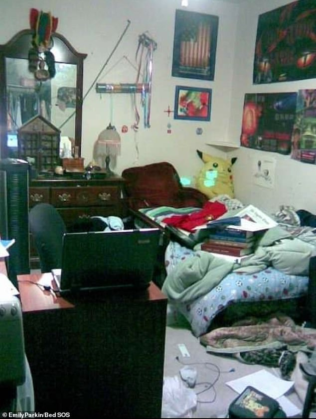 Complete with a messy bed and trip hazards all over the floor, Emily Parkin, from London, claims this is her ¿friend¿s bedroom¿... but we¿re not sure if we believe her