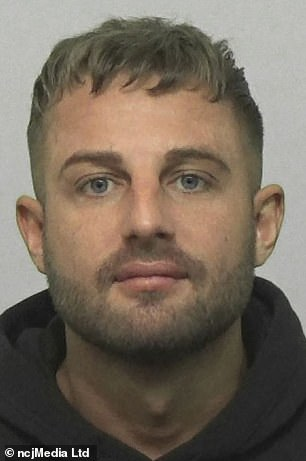 The 27-year-old pictured in a photo posted to Facebook by Northumbria Police